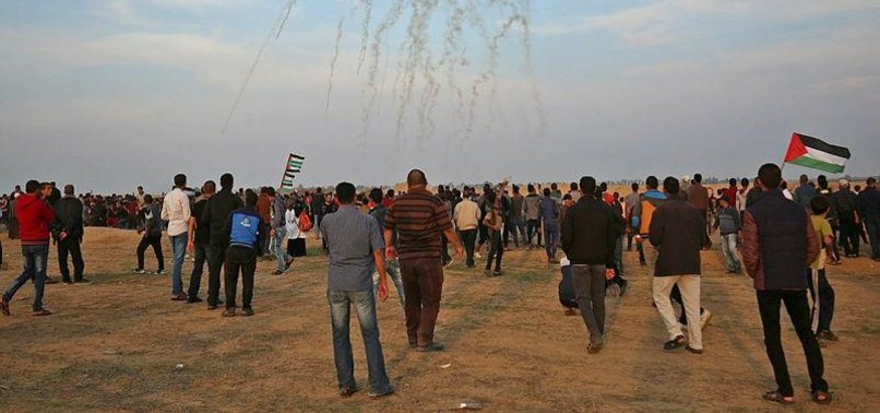 GAZANS CONVERGE ON ISRAEL BUFFER ZONE FOR 33RD FRIDAY