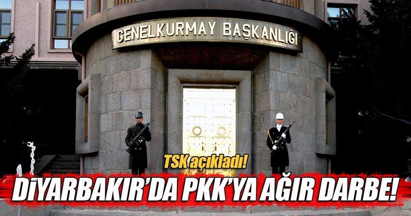 Diyarbakır'da PKK'ya ağır darbe!