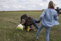 The Hungarian camerawoman who was filmed kicking and possibly tripping migrants along the country's border with Serbia was sentenced Thursday to three years' probation for disorderly...