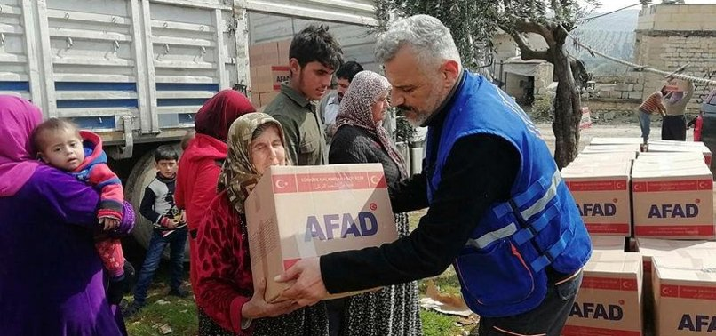 TURKEY'S DISASTER RESPONSE AGENCY AIDS SYRIANS IN AFRIN