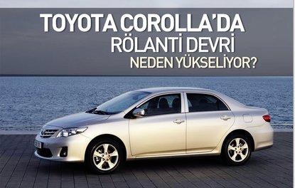 Toyota Corolla'da rölanti devri neden yükseliyor?