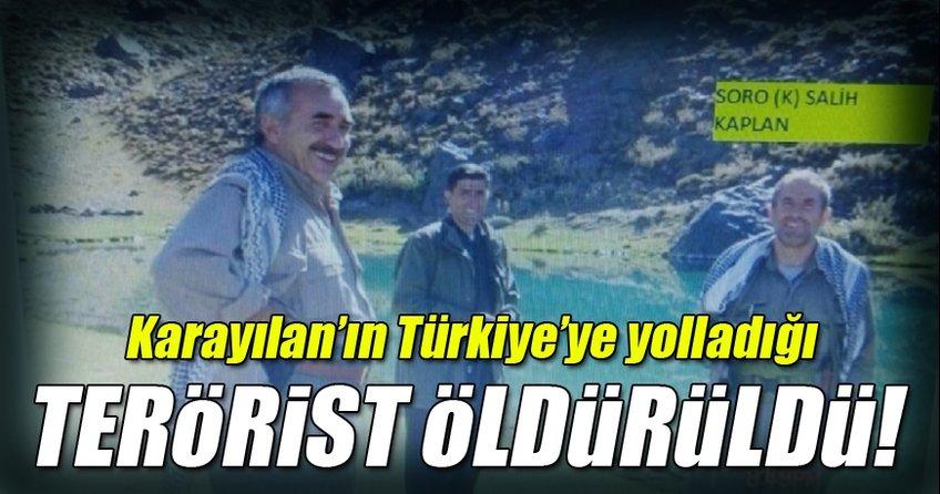Karayılan'ın Türkiye'ye gönderdiği terörist öldürüldü