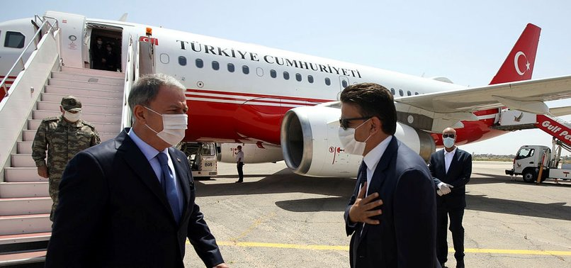 TURKISH DEFENSE MINISTER AND MILITARY CHIEF VISIT LIBYA