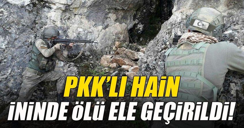 PKK'lı hain ininde ölü ele geçirildi