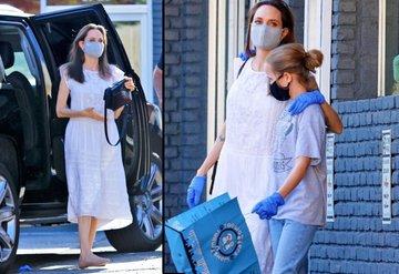 Angelina Jolie karantina sonrası ilk kez görüntülendi