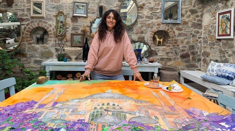 Ressam Pınar Tınç'tan ''Yuvaya Dönüş''