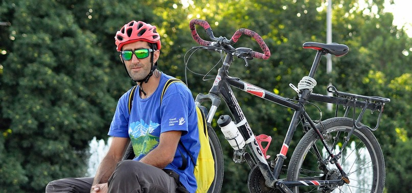 TURKISH CYCLIST RIDES TO BISHKEK IN JOURNEY TO HOMELAND
