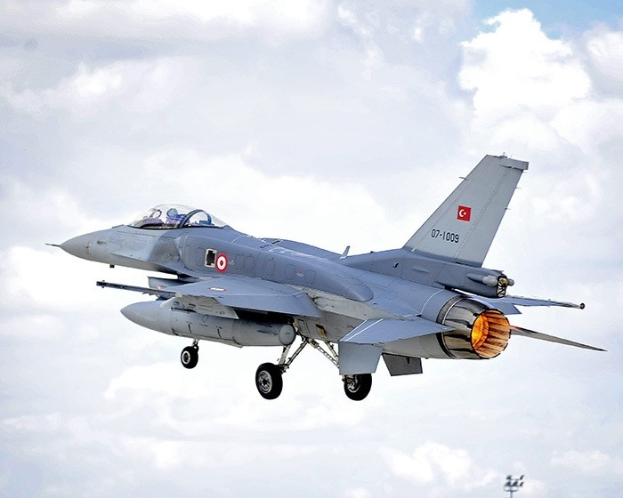 An F-16 Fighting Falcon of the Turkish Air Force takes off on a sortie from Third Air Force Base Konya, Turkey during Exercise Anatolian Eagle. (File Photo)