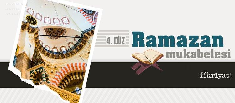 Ramazan mukabelesi Kur'an-ı Kerim hatmi 4. cüz