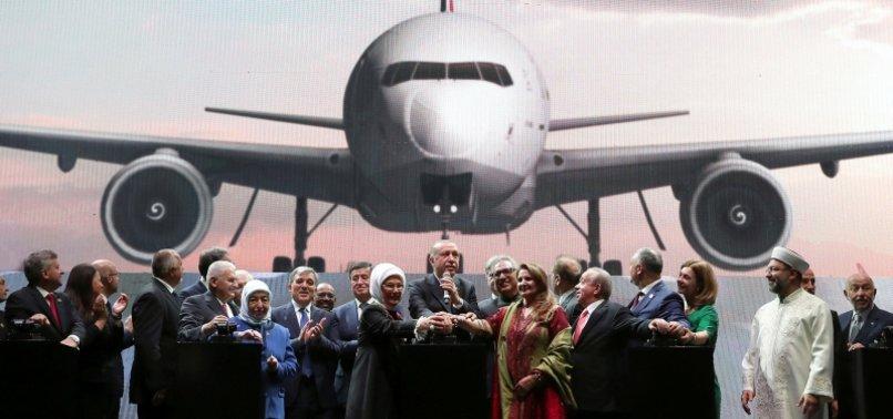 PRESIDENT ERDOĞAN UNVEILS ISTANBULS NEW INTERNATIONAL AIRPORT