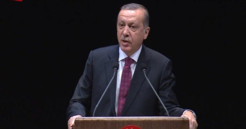 Cumhurbaşkanı Erdoğan: İki gözümüzü çıkarmaya çalışanlar kaybettikleri gözleriyle kalacaktır.