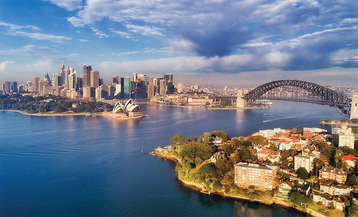 doğal güzellikler içinde modern şehirler avustralya samdan