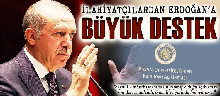 İlahiyatçılardan Erdoğana büyük destek