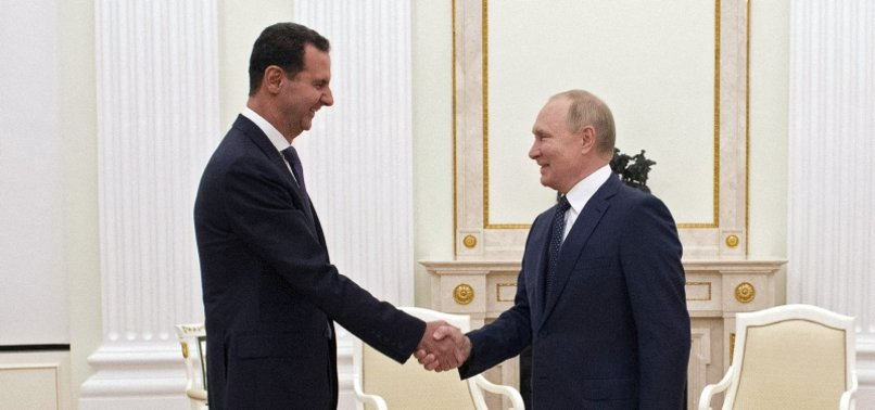 RUSSIAS PUTIN MEETS SYRIAS ASSAD IN MOSCOW
