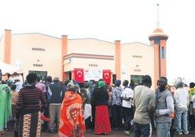 Ruanda'da Erbakan Camisi ibadete açıldı