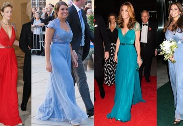 Kraliyet üyelerinin aynı elbise tercihleri!