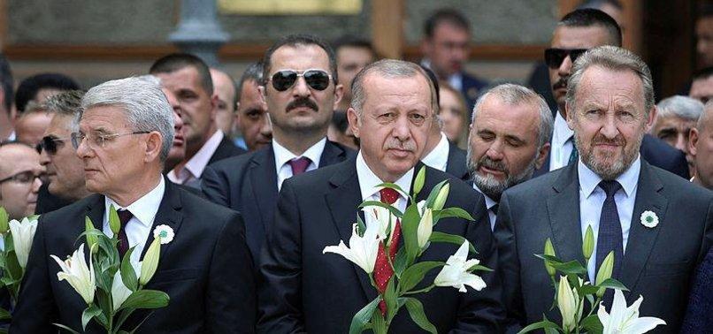 TURKISH LEADER SENDS OFF SREBRENICA GENOCIDE VICTIMS