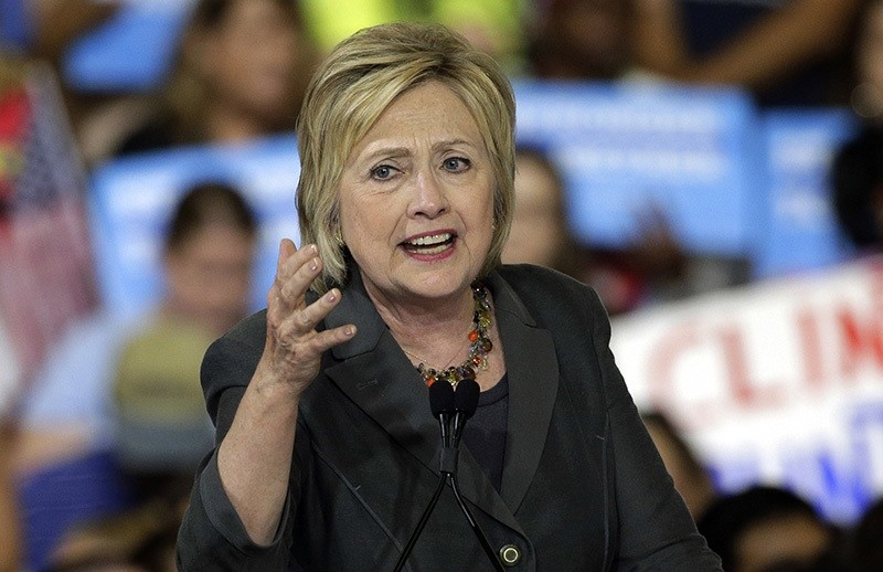 In this June 22, 2016 file photo, Democratic presidential candidate Hillary Clinton speaks during a rally in Raleigh, N.C. (AP Photo)