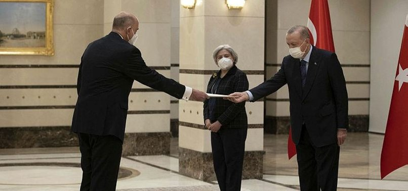 TURKEYS ERDOĞAN RECEIVES CREDENTIALS OF 2 NEWLY APPOINTED ENVOYS