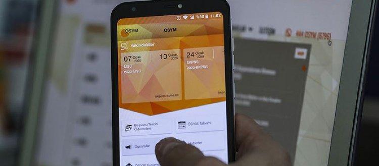 ÖSYM'nin aday işlemleri için mobil uygulaması erişime açıldı