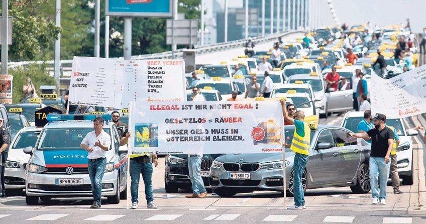 Viyana'da Uber isyanı