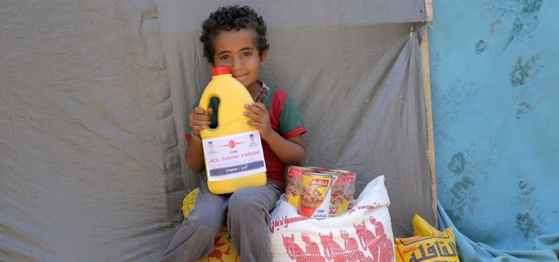 TURKISH AID AGENCY SENDS FOOD AID TO FAMILIES IN YEMEN