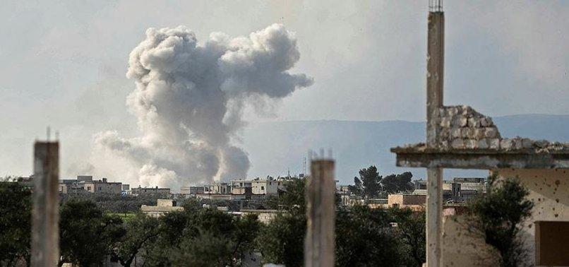RUSSIAN WARPLANES STRIKE SYRIA'S IDLIB, KILLING TEN