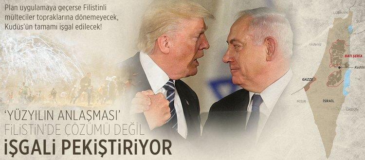 'Yüzyılın Anlaşması' Filistin'de çözümü değil işgali pekiştiriyor!
