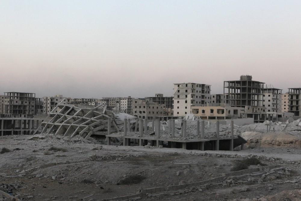 Damaged buildings in southwestern Aleppo, Syria, Aug. 5, 2016.