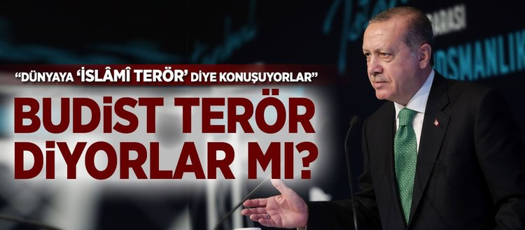 Erdoğan: Budist terör diyorlar mı?