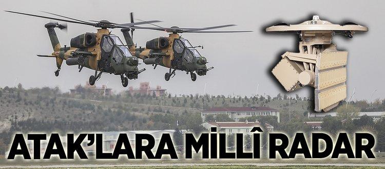 ATAK helikopterimiz, millî radara kavuşuyor