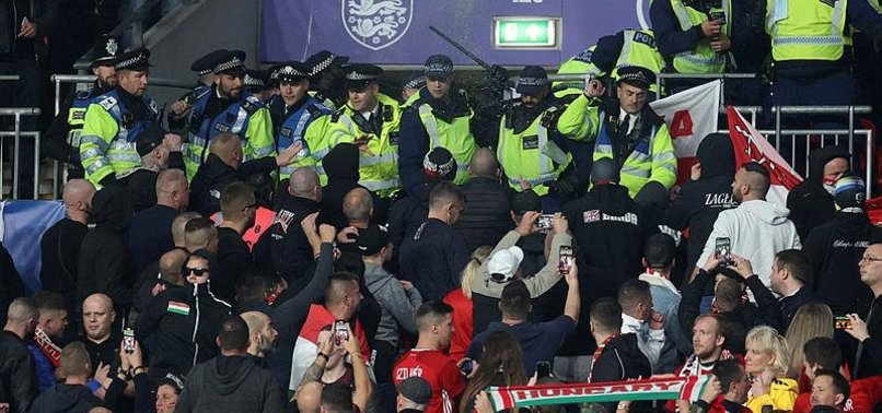 FIFA OPENS PROBE INTO CLASHES BETWEEN POLICE AND HUNGARIAN SUPPORTERS AT WEMBLEY STADIUM