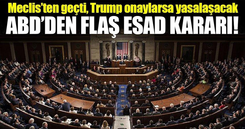 Esad rejimine yaptırım önerisi ABD Meclisinden geçti!