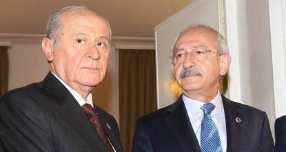 pMain opposition Republican People's Party (CHP) Chairman Kemal Kılıçdaroğlu and Nationalist Movement Party (MHP) Chairman Devlet Bahçeli will meet at Parliament on Wednesday to discuss the...