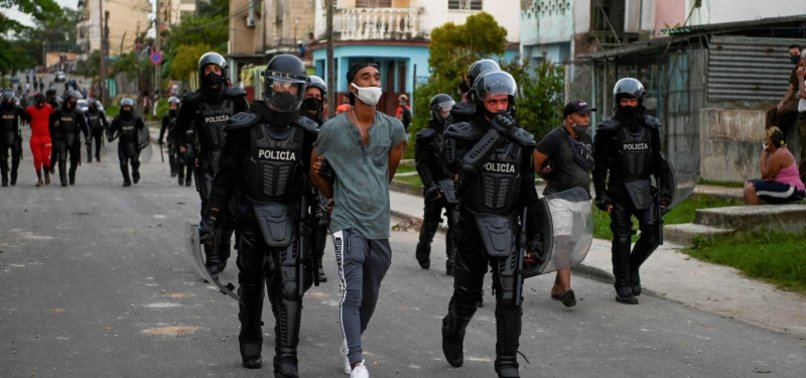THOUSANDS OF CUBANS ARRESTED FOR TAKING PART IN ANTI-GOVERNMENT PROTESTS - REPORT