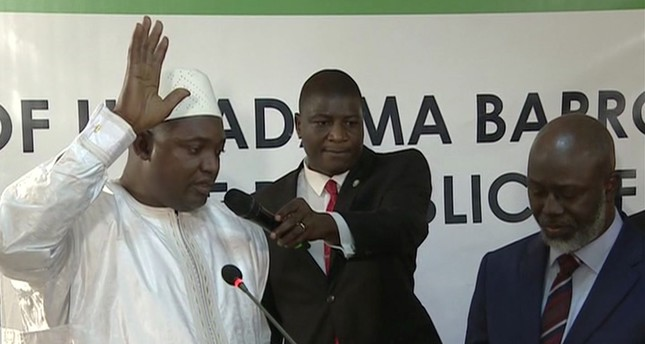 New Gambia president inaugurated in Senegal
