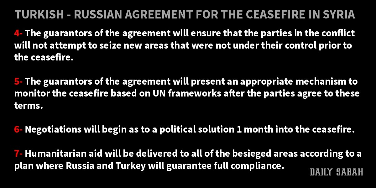 Turkey, Russia ink deal for nationwide cease-fire in Syria, Daesh, Nusra, YPG terrorists excluded
