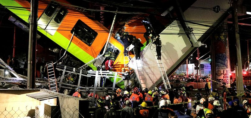 MEXICO CITY METRO OVERPASS COLLAPSES ONTO ROAD; OVER 20 DEAD