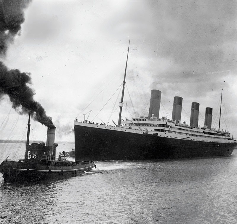 A handout picture received from Southampton City Council on April 4, 2012 shows the Titanic leaving Southampton on her ill-fated maiden voyage on April 10, 1912. (AFP Photo)