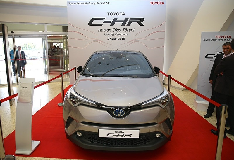 The new Toyota C-HR produced at the Toyota Motor Manufacturing Turkey. (Photo AA)