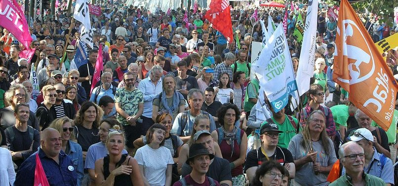 CLIMATE CHANGE PROTESTS HIT FRANKFURT AS AUTO SHOW OPENS