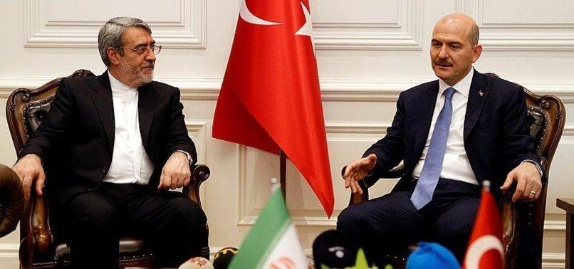 TURKEYS INTERIOR MINISTER MEETS IRANIAN COUNTERPART