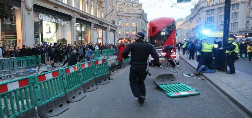 UK POLICE ARREST 155 IN ANTI-LOCKDOWN PROTESTS IN LONDON