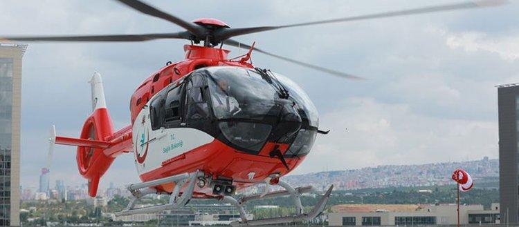 Helikopter ambulanslar 2008'den bu yana 31 bin 900 hasta taşıdı