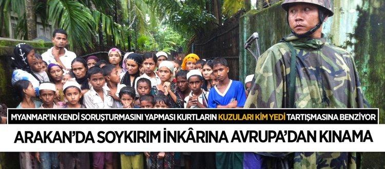Myanmar'ın kendini aklama çabalarına Avrupa'dan kınama