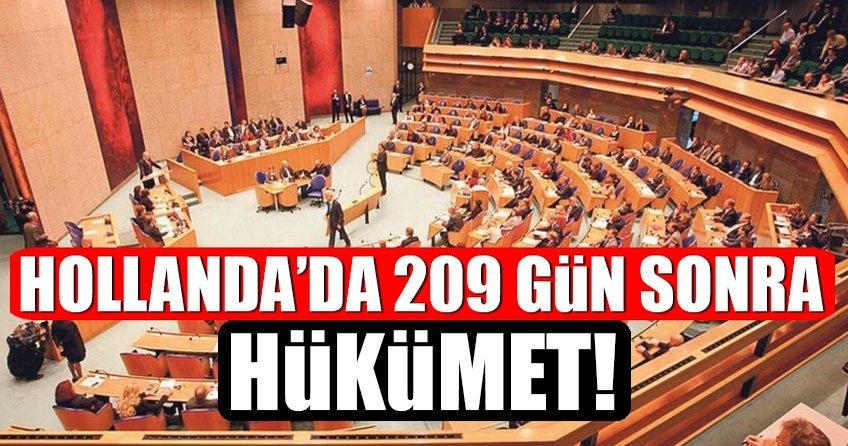 Hollanda'da 209 gün sonra hükümet