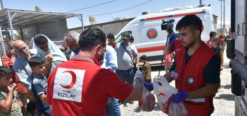 TURKISH RED CRESCENT PROVIDES EID MEAT TO REFUGEE FAMILIES IN IRAQ