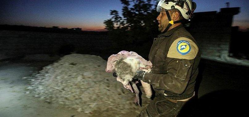 RUSSIAN AIR RAIDS, REGIME STRIKES IN SYRIA KILL 14 INCLUDING EIGHT CHILDREN IN IDLIB: MONITOR