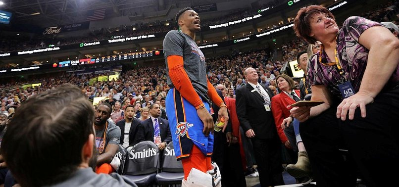 WESTBROOK FINED $25,000 OVER FAN BUST-UP