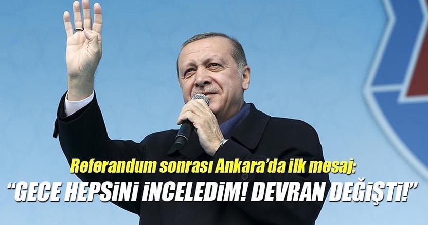 Cumhurbaşkanı Recep Tayyip Erdoğan'a Ankara'da muhteşem karşılama
